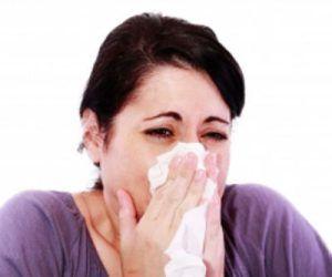 woman using handkerchief