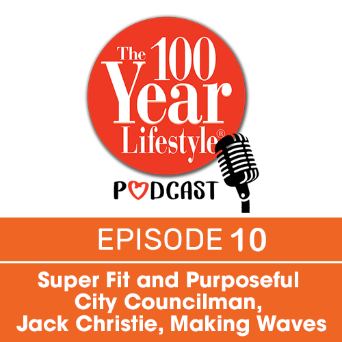 the 100 year lifestyle podcast orange image