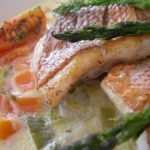 Spiced Red Snapper in Lemon Coconut Veggie Sauce