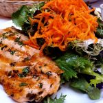 Healthy Detox Salad with Grilled White Fish