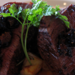 Filet Mignon with Caramelized Onions