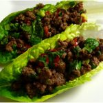 Pepper Beef and Lettuce Wraps