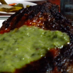 Lean Steak with Healthy Pistachio Pesto