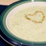 Detox Lemon Leek & Broccoli Soup with Toasted Seeds